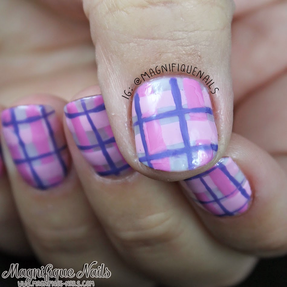 Magically Polished |Nail Art Blog|: Pinkiful Plaid