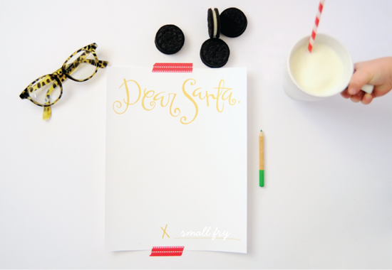 Dear Santa Letter Download | Maypole via Small Fry Blog