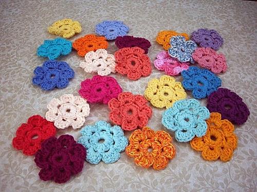 Easy 7 Petal Crochet Flower Free Pattern Flor Em Crochet Com 7