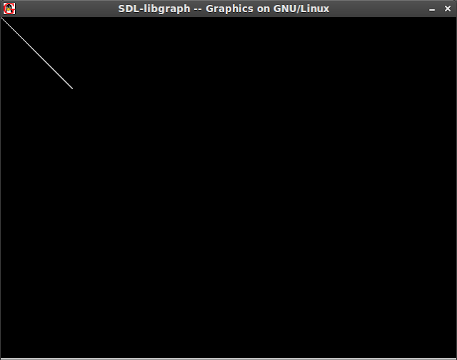 Simple Line Drawing Algorithm In C : A simple program to draw line ubuntu libgraph