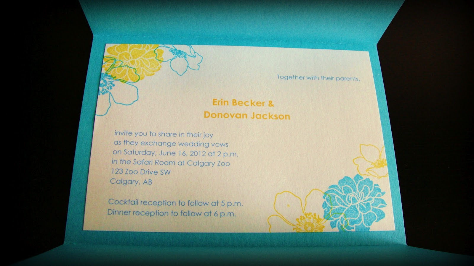 Glass Slipper Designs Erin Amp Donovans DIY Yellow And Turquoise Stationery Suite