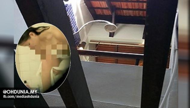 rakam, sebar foto aksi pelanggan ketika mandi