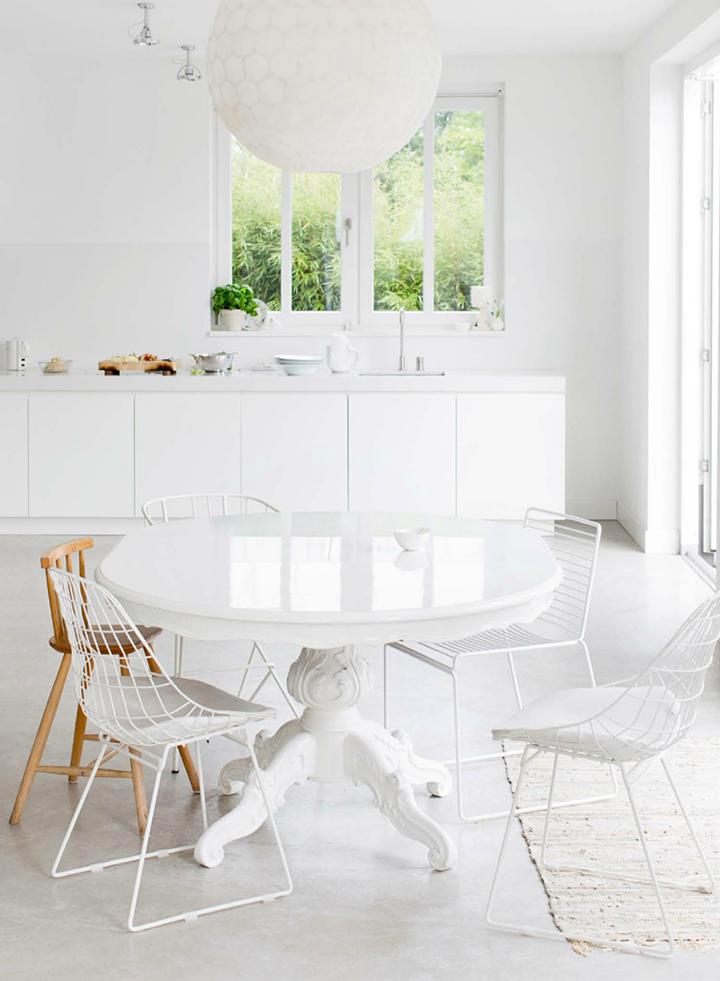 En estado de rachel grandes mesas redondas para la cocina - Mesas redondas para cocinas ...