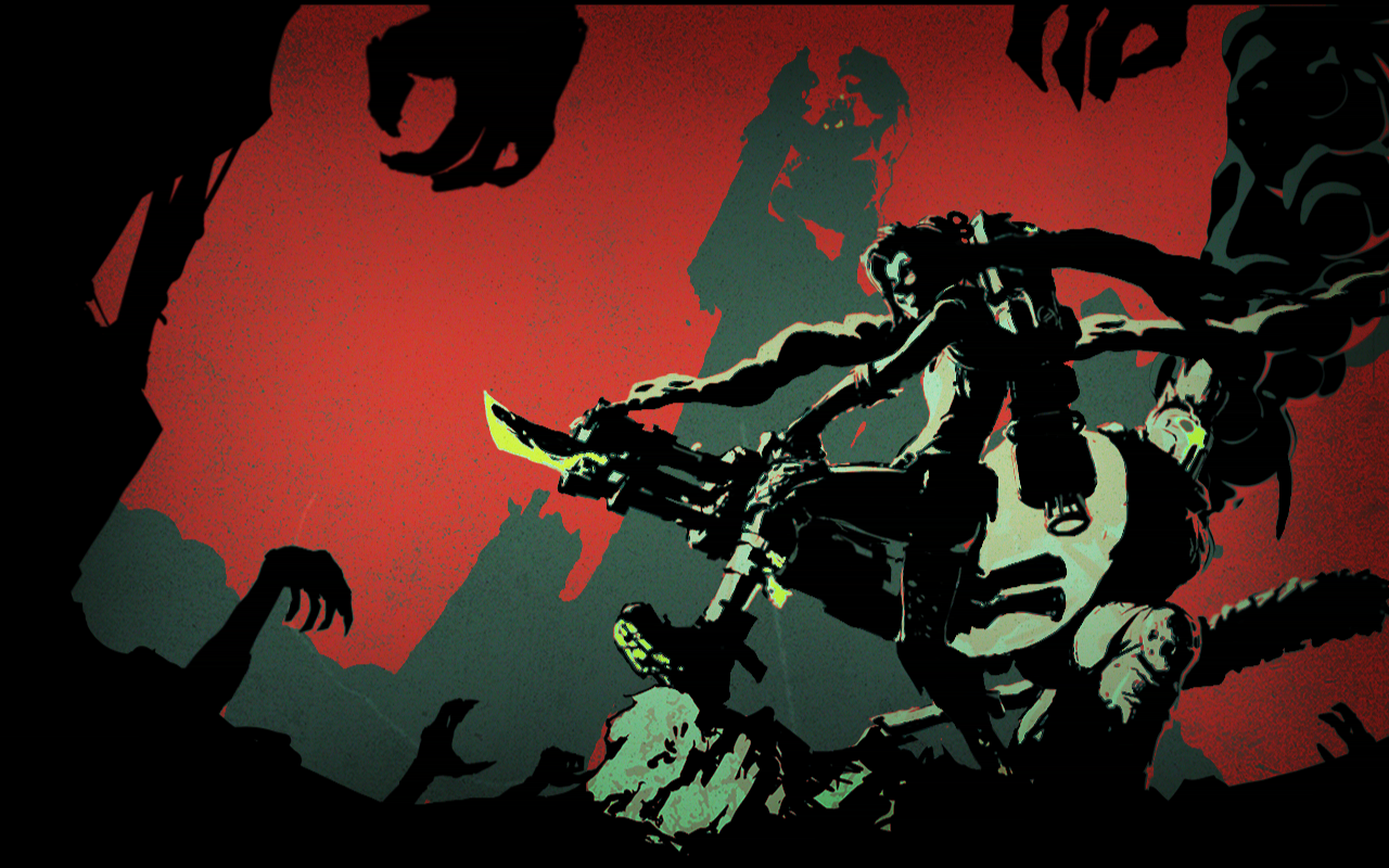 Here's The Still Image For The Zombie Slayer Login: