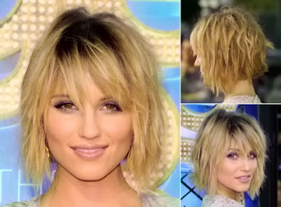 Dianna Agron short haircut with bangs