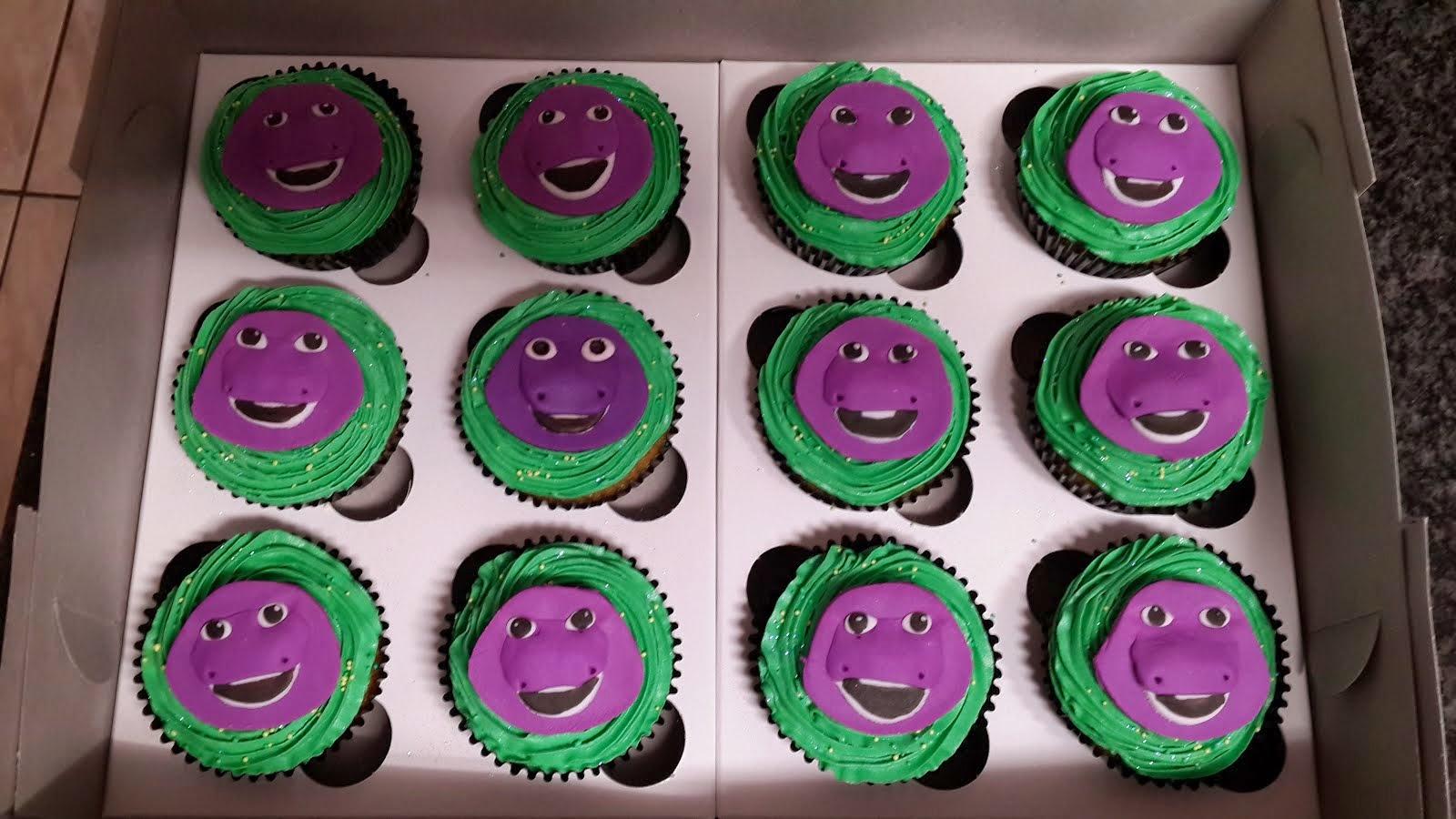 Barney 2D Cupcakes