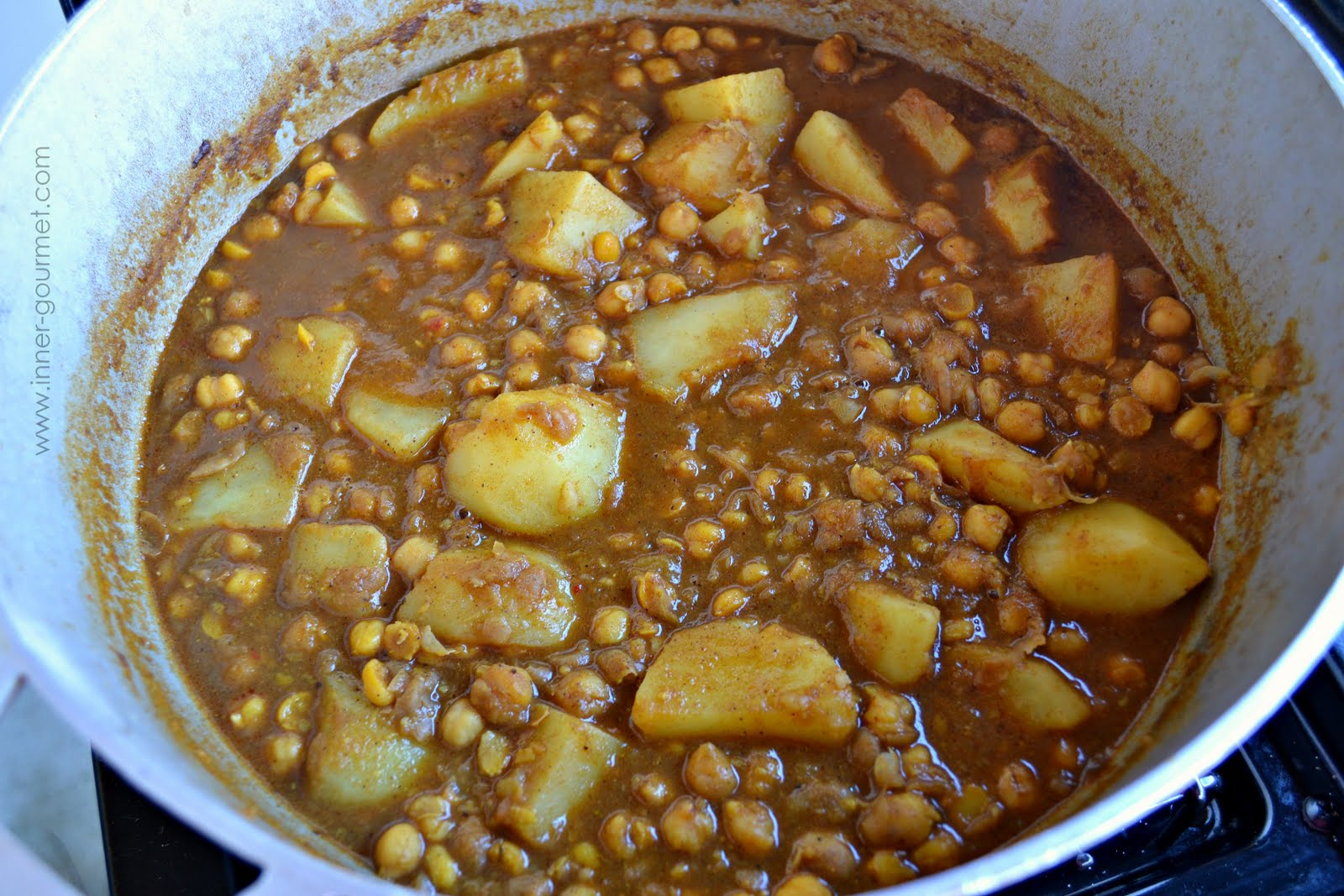Curry is done when potatoes are completely cooked through and curry ...