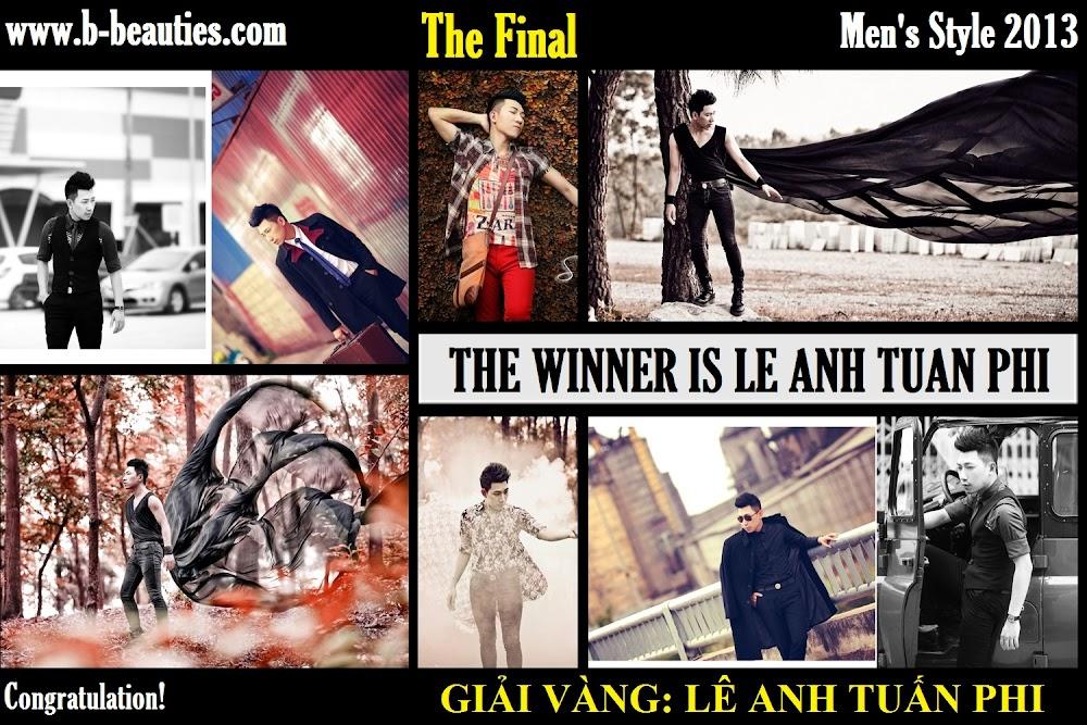Men's Style 2013 đã vinh danh 3 giải thưởng cao quý nhất: Giải Vàng - Giải Bạc - Giải Đồng