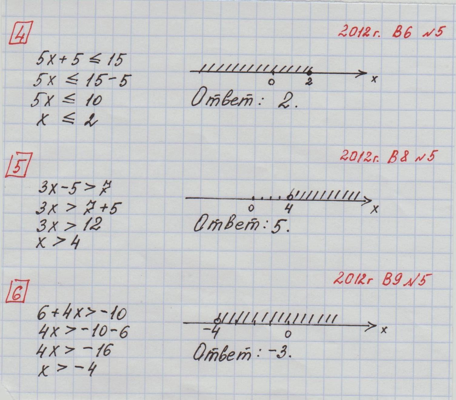 Кдр по математике 9класса ответв