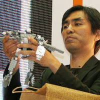 Shoji Kawamori, using Lego to make proof-of-concept Macross mecha mock-ups.