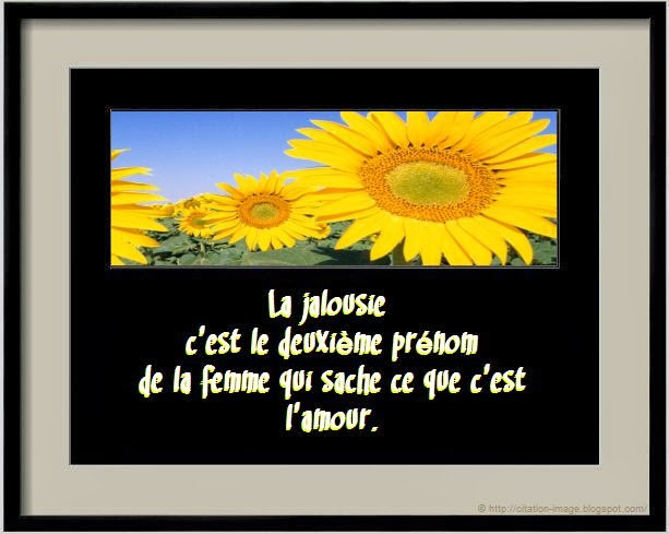 Citation jalousie femme