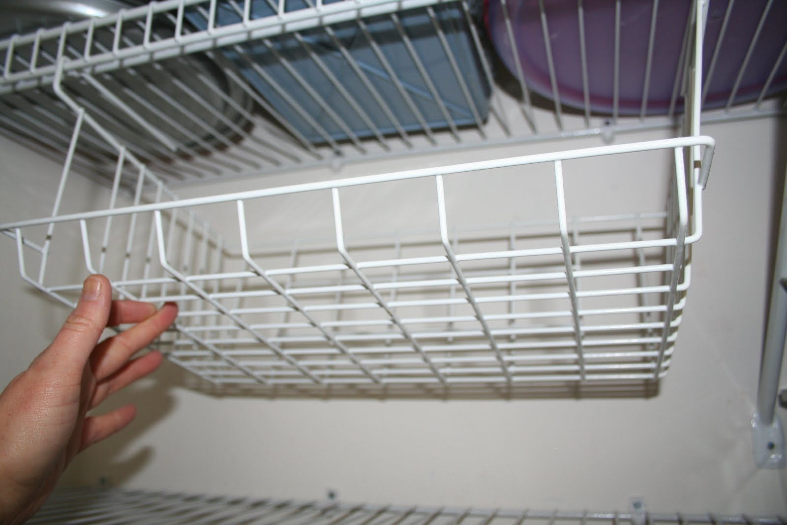 Under Shelf Wire Rack | How To Use An Under Shelf Wire Basket On Wire Shelving System