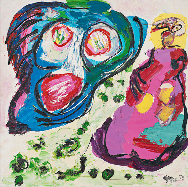 Karel Appel - Flying head,1974.
