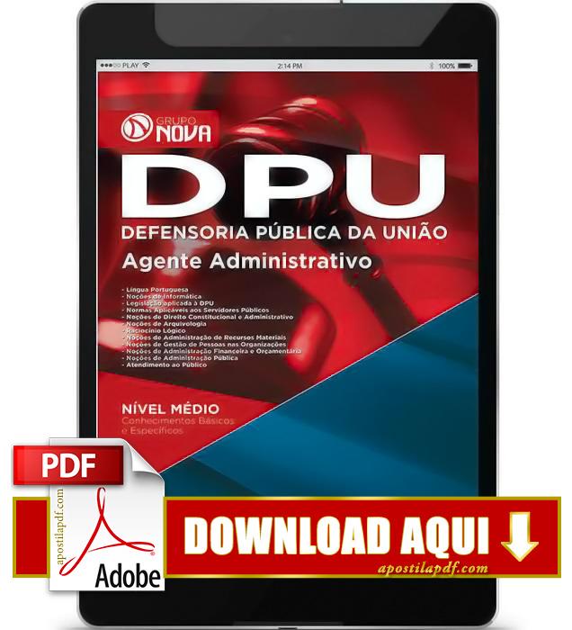 Apostila DPU 2015 Agente Administrativo PDF Download