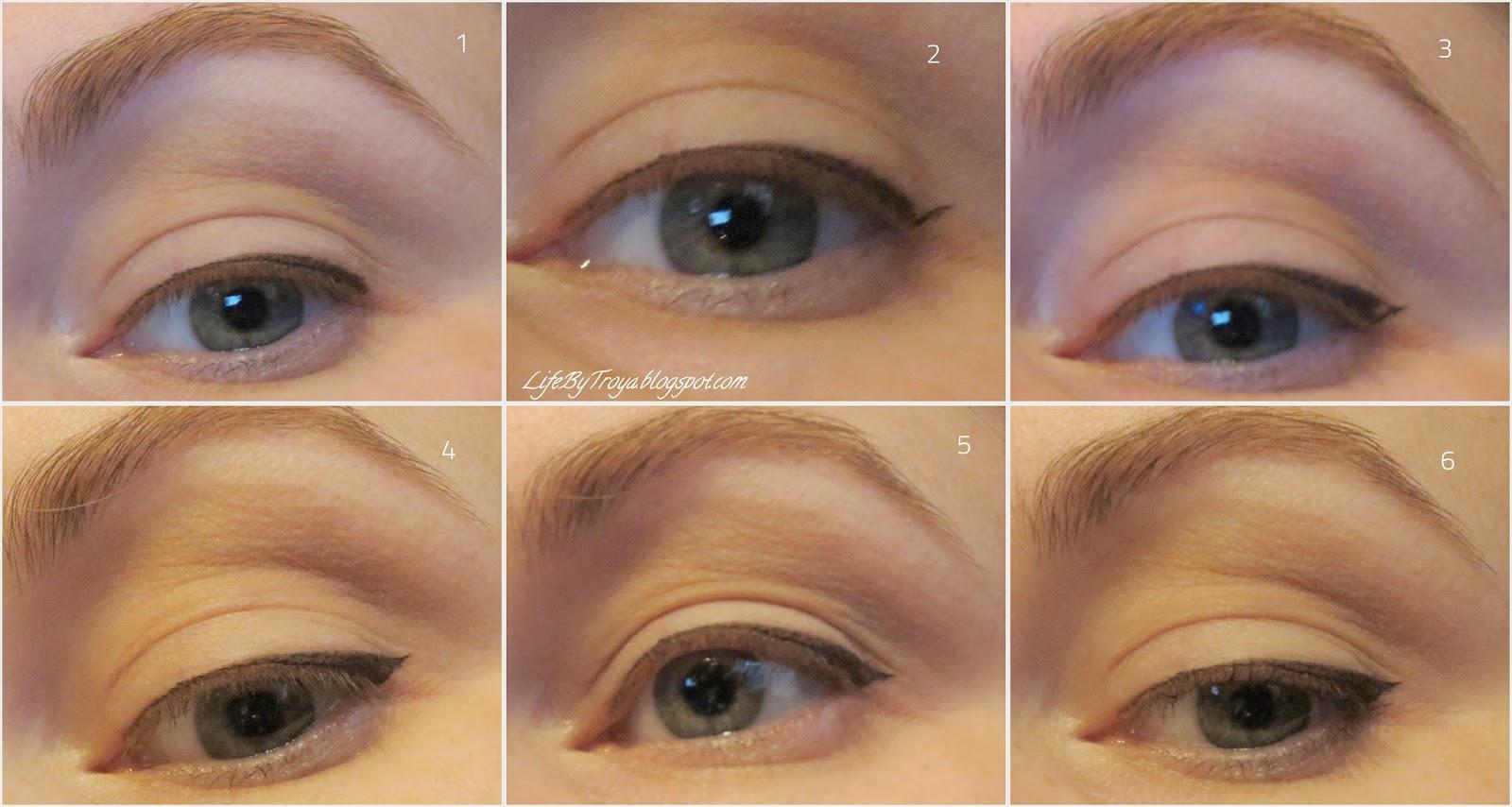 Как сделать стрелки на глазах пошагово фото