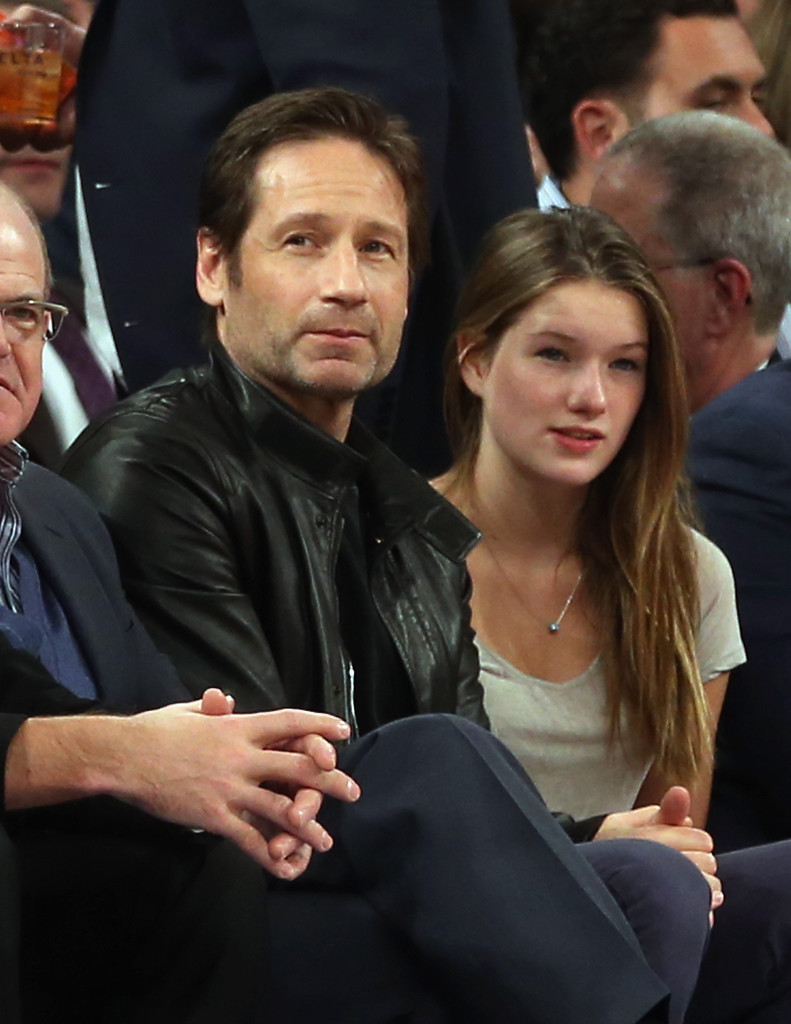 Duchovny Central David Duchovny Amp His Daugther At Knicks