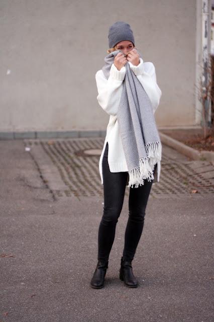 XXL Schal von Asos: Winter-Outfit