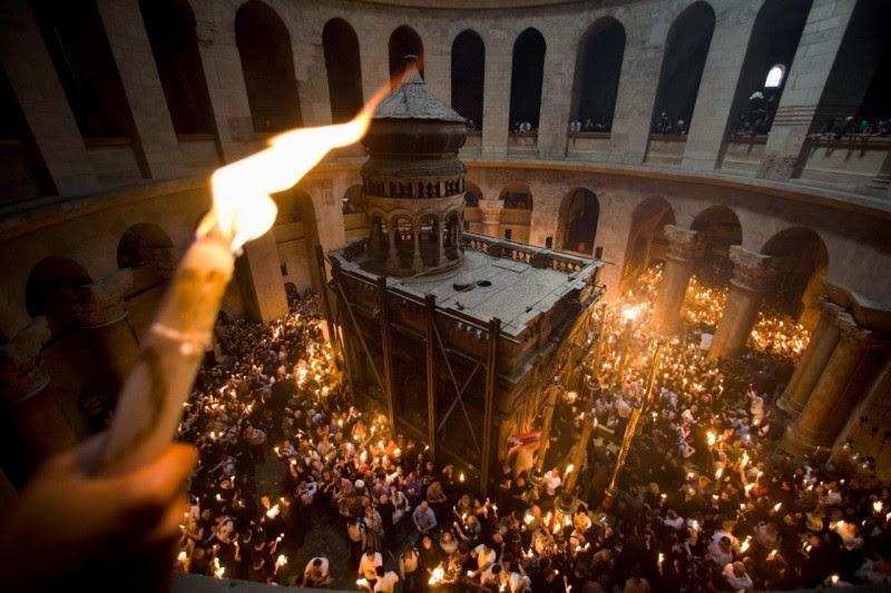 Holy Fire from Jerusalem arrived in Ukraine