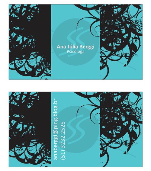 M235 cartoes de visita psicologos porto alegre - Cartões de Visita para Psicólogos