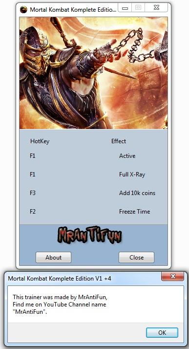 Mortal Kombat Komplete Edition trainer +4 MrAntiFun