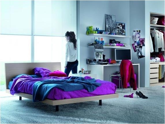 Cool modern teen girl bedrooms room design ideas for Cool girl bedroom ideas teenagers
