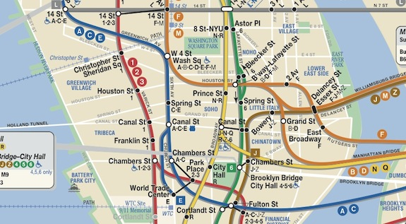 Brooklyn Heights Subway Map.Ev Grieve Mta Eliminates That Pesky Alphabet City In New Subway Map
