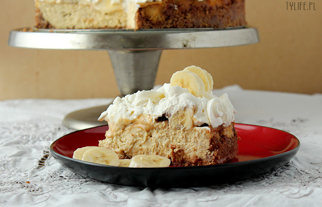 sernik bananowy, sernik karmelowy, sernik z bitą śmietaną, sernik z bananami, banoffee pie, banana cheesecake, caralem cheesecake,