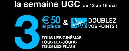 Places de cinéma à 3.50 euros chez UGC ! place de cinema pas cher bon plan cinema promo cinema UGC