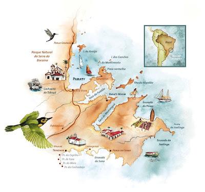 Mapa de Parati - RJ