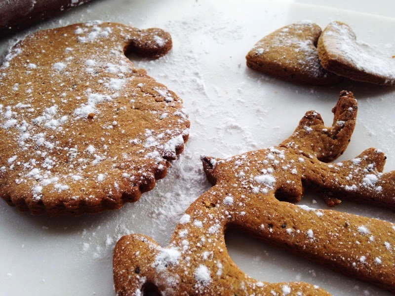 festive reindeer biscuit and santa biscuit for christmas