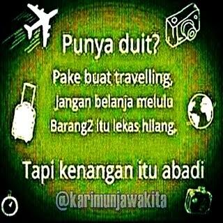 dp bbm ajakan travelling