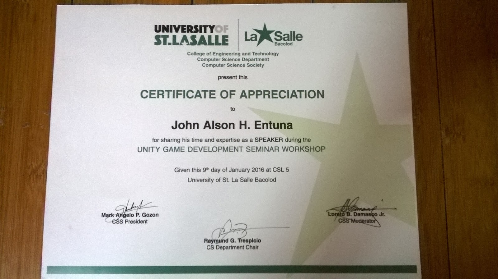 Thank you university of saint la salle bacolod computer science ps if you need help feel free to contact me in any medium that you could find me xflitez Images