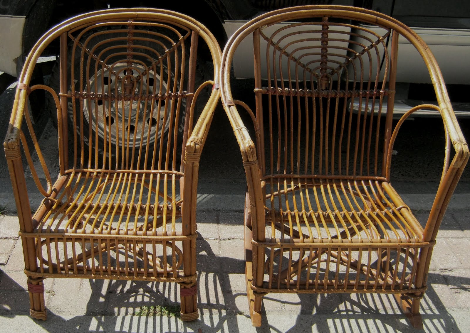 Superb PR. Of WILLOW CHAIRS, Circa 1940