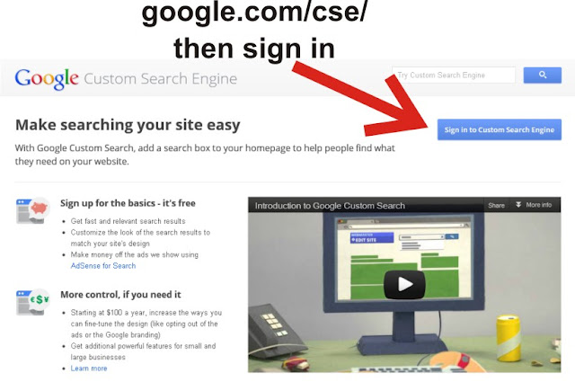 how to add google custom search