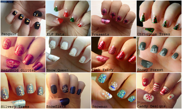 Simple DIY Christmas Nail Designs