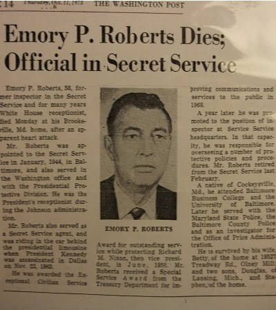 ATSAIC (Shift Leader) Emory Roberts Washington Post Obit 11/11/73. He was quite close with LBJ