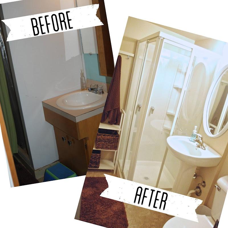 green door blog our basement bathroom reno our basement bathroom reno title=