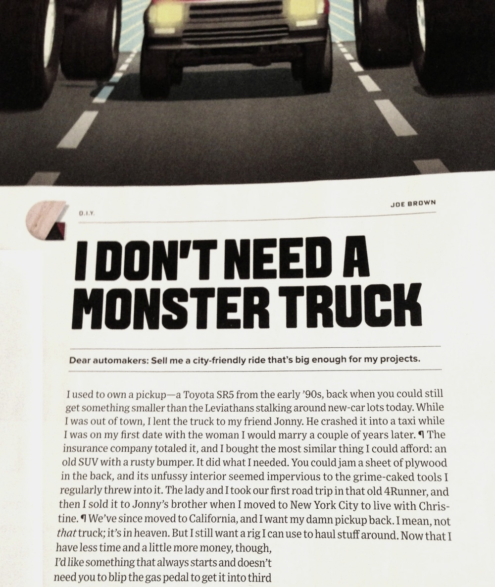 Daily Turismo: Mid Week Match-Up: Find A Small Truck For Joe At Wired