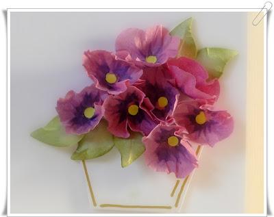 Flor hecha con filtro de cafe