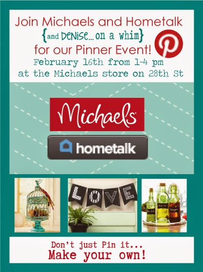 Pinterest Party at Michaels with Hometalk via http://deniseonawhim.blogspot.com