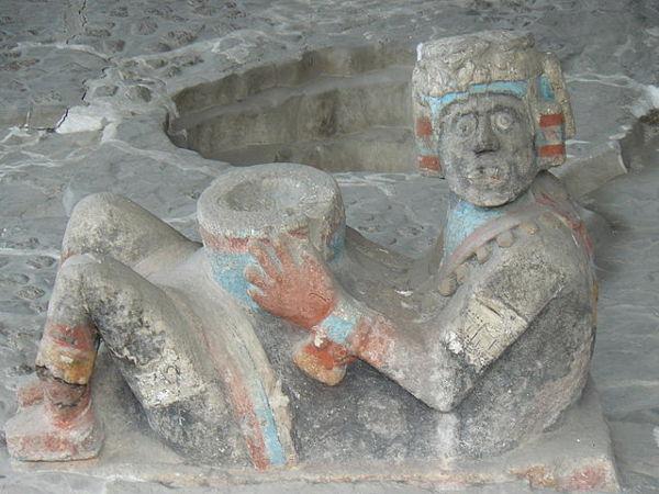 Aztec chacmool, simbolis teratai