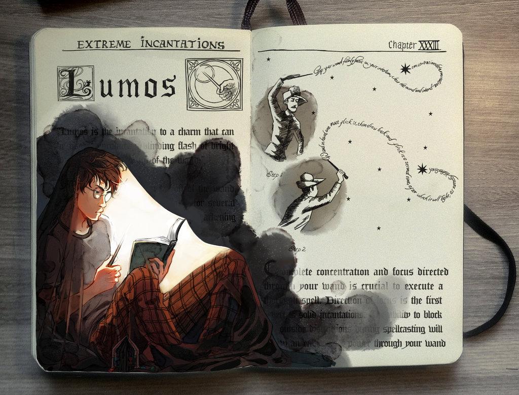 06-Lumos-Gabriel-Picolo-kun-Harry-Potter-Moleskine-Drawings-of-Wizard-Spells-www-designstack-co