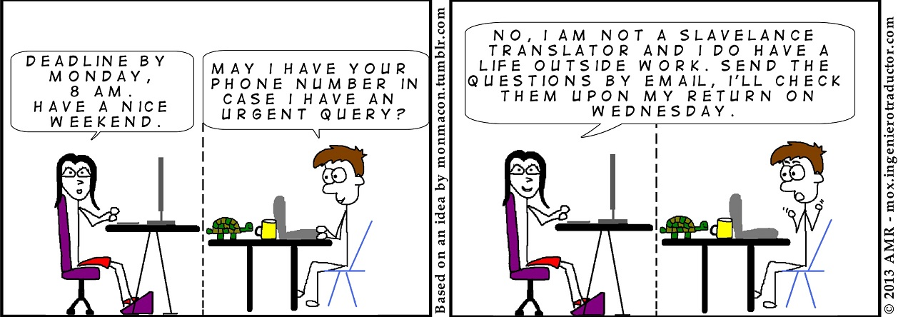cartoon translator working weekends
