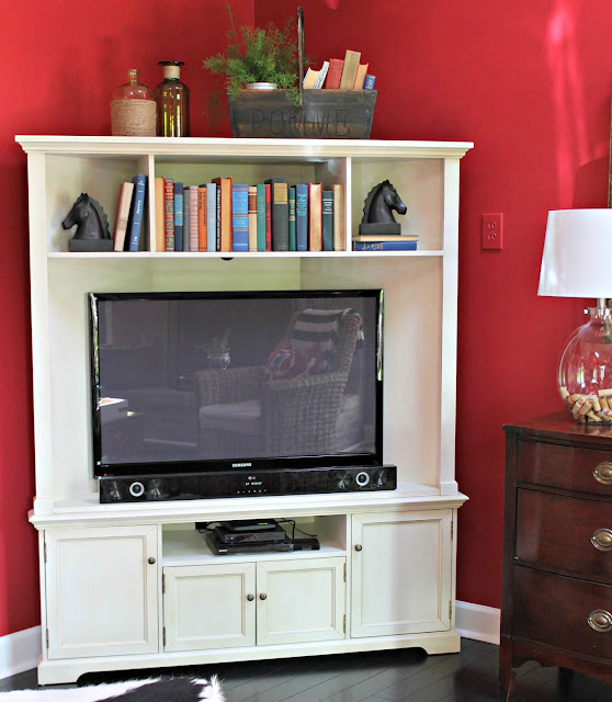 ballard designs reston corner media console with hutch