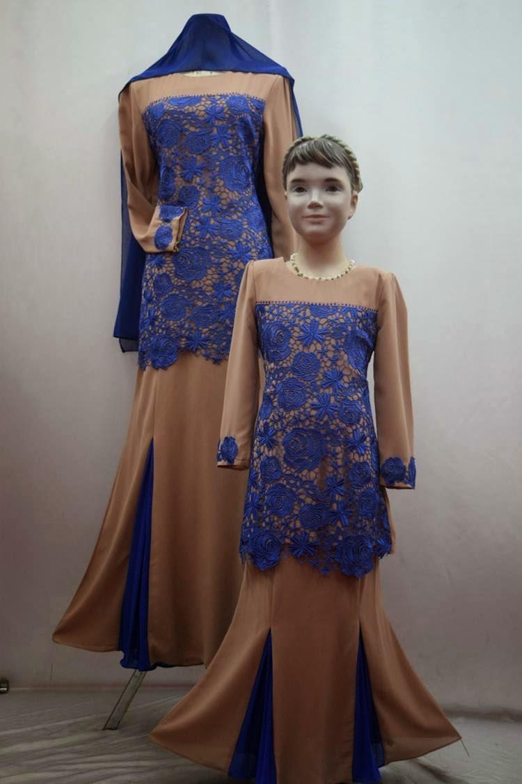 BUTIK FEMINANI: Baju Kurung Moden Prade Lace FD Design Kod DFH 956
