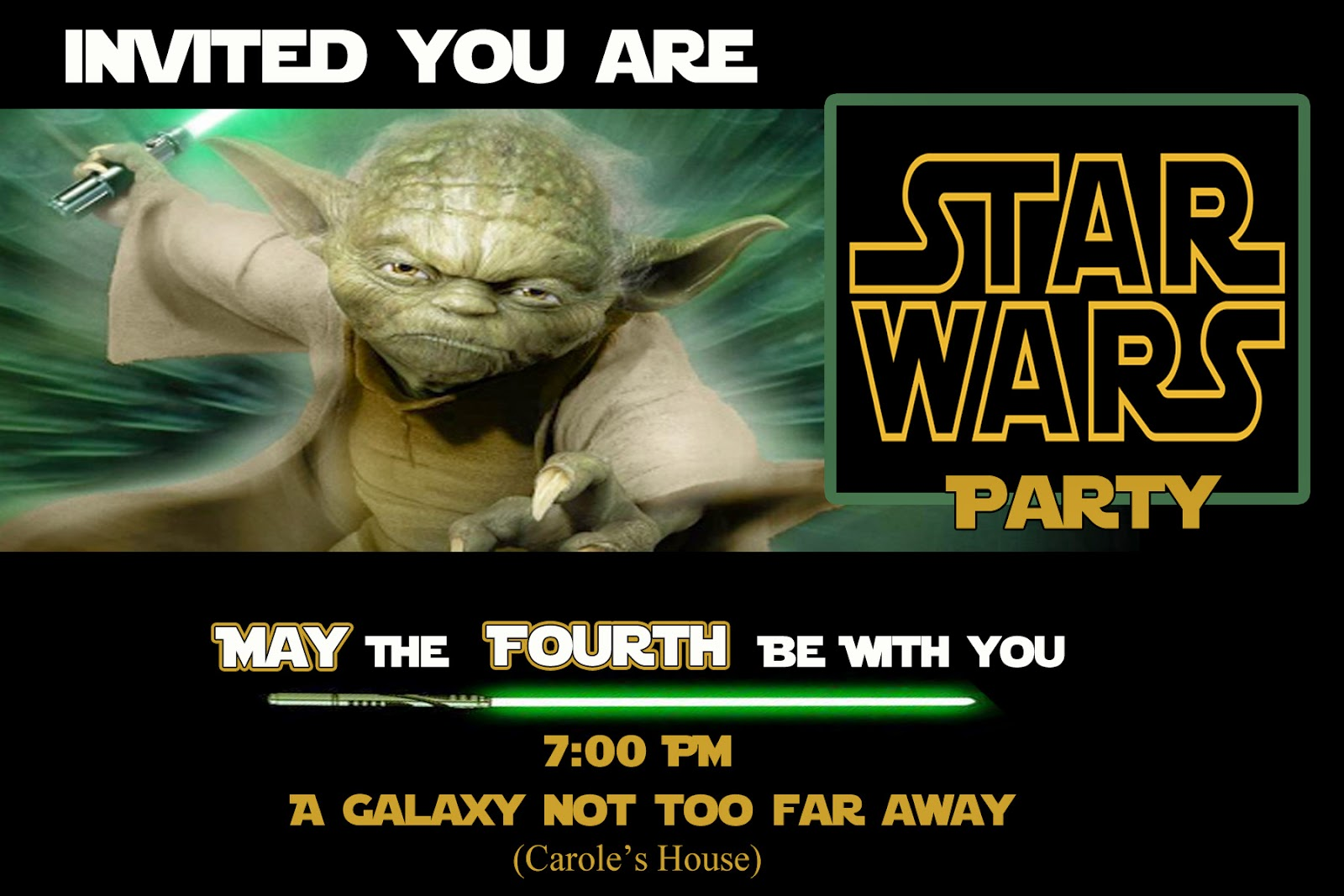 Invite and Delight May the Fourth Be With You Star Wars Party – Party Invitation Sites