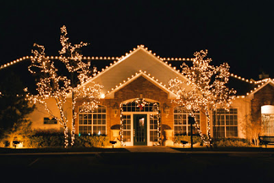 House Xmas Outdoor Lighting