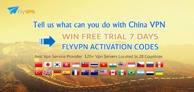 Obtenir FlyVPN un mois code d'activation gratuite