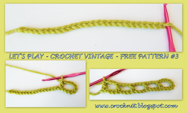 free crochet patterns, vintage, arches,