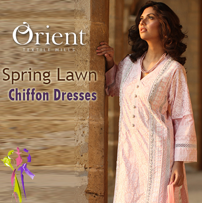 Orient Textiles Spring Lawn Chiffon Dresses